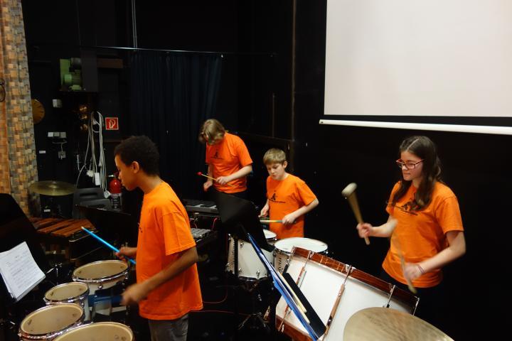 Festkonzert 2015 MS 22 Schlagzeuger