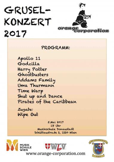 Gruselkonzert Programm